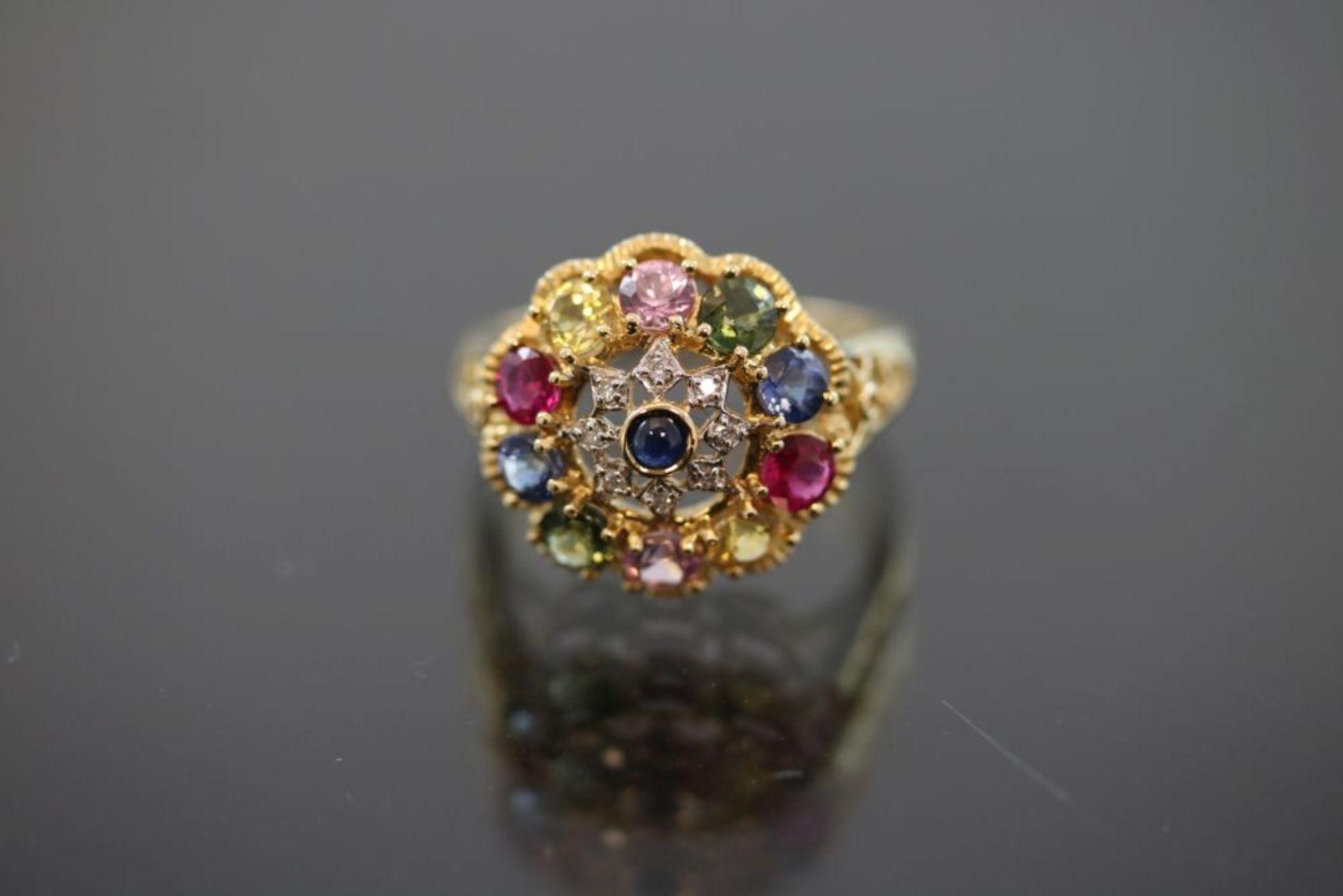 Edelstein-Ring, 750 Gold