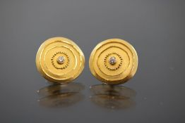 Brillant-Ohrringe, 900 Gold
