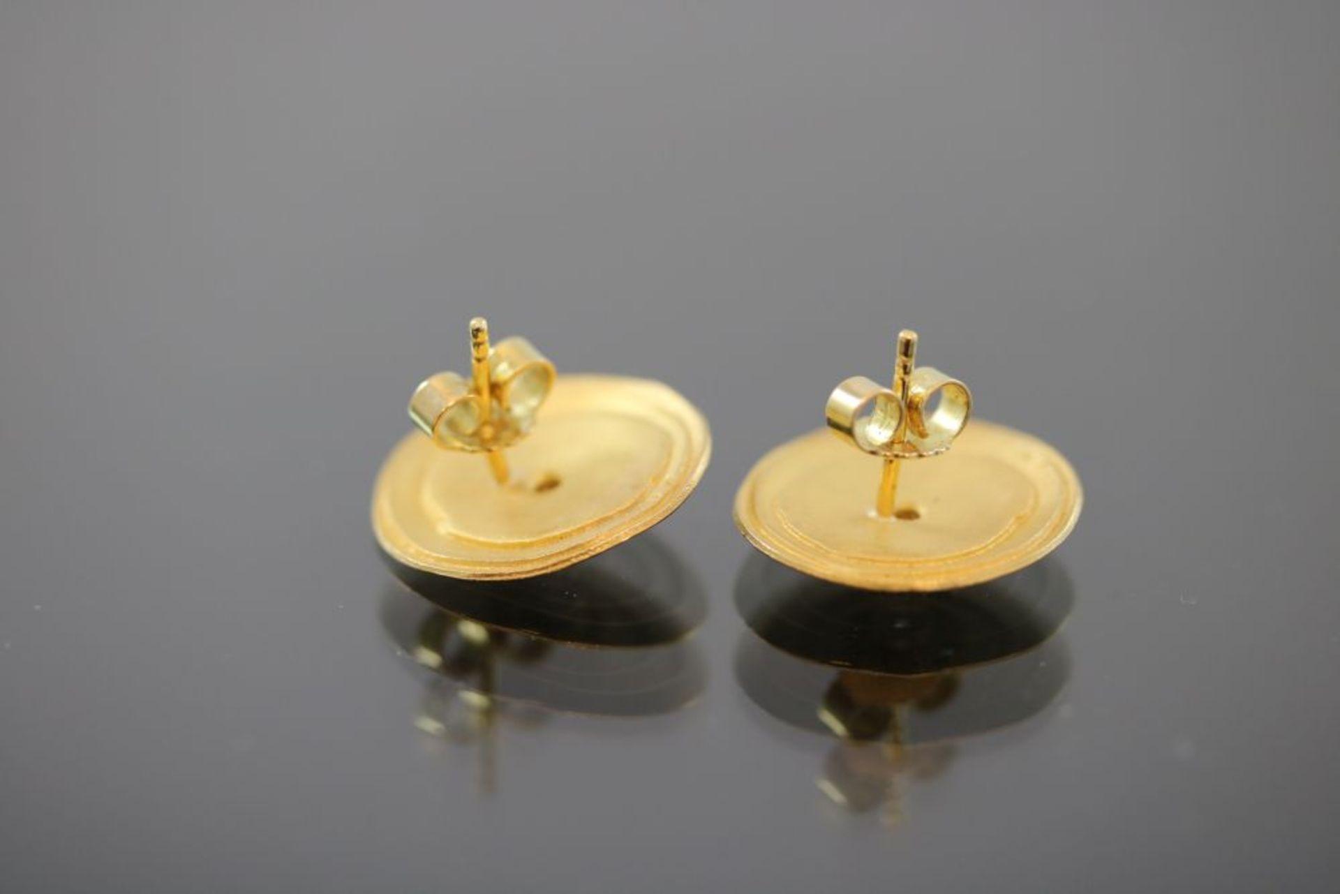 Brillant-Ohrringe, 900 Gold - Bild 3 aus 3