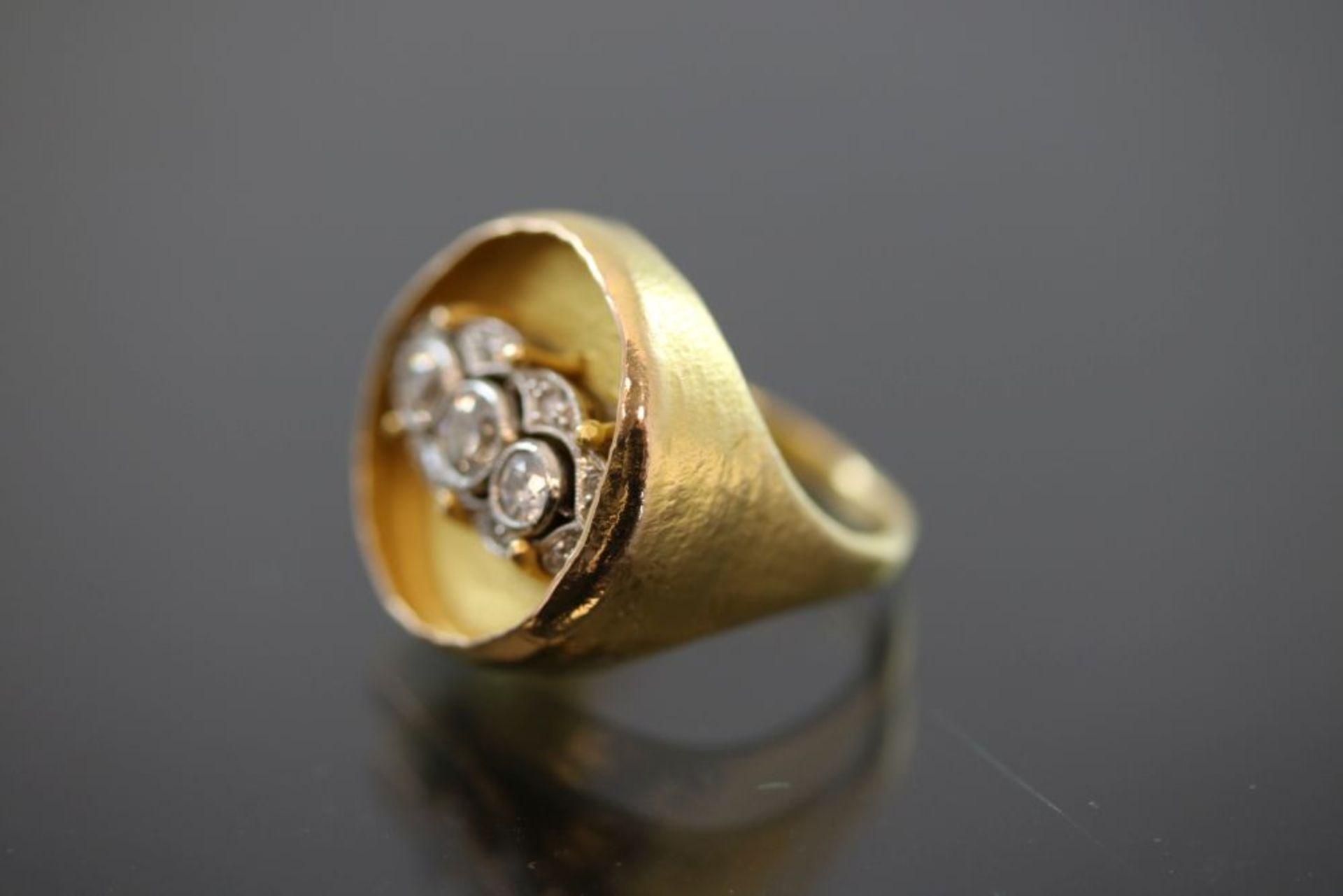 Zobel-Diamant-Ring, 750 Gold - Bild 2 aus 3