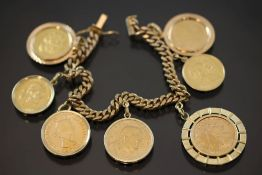 Münzarmband, Gold