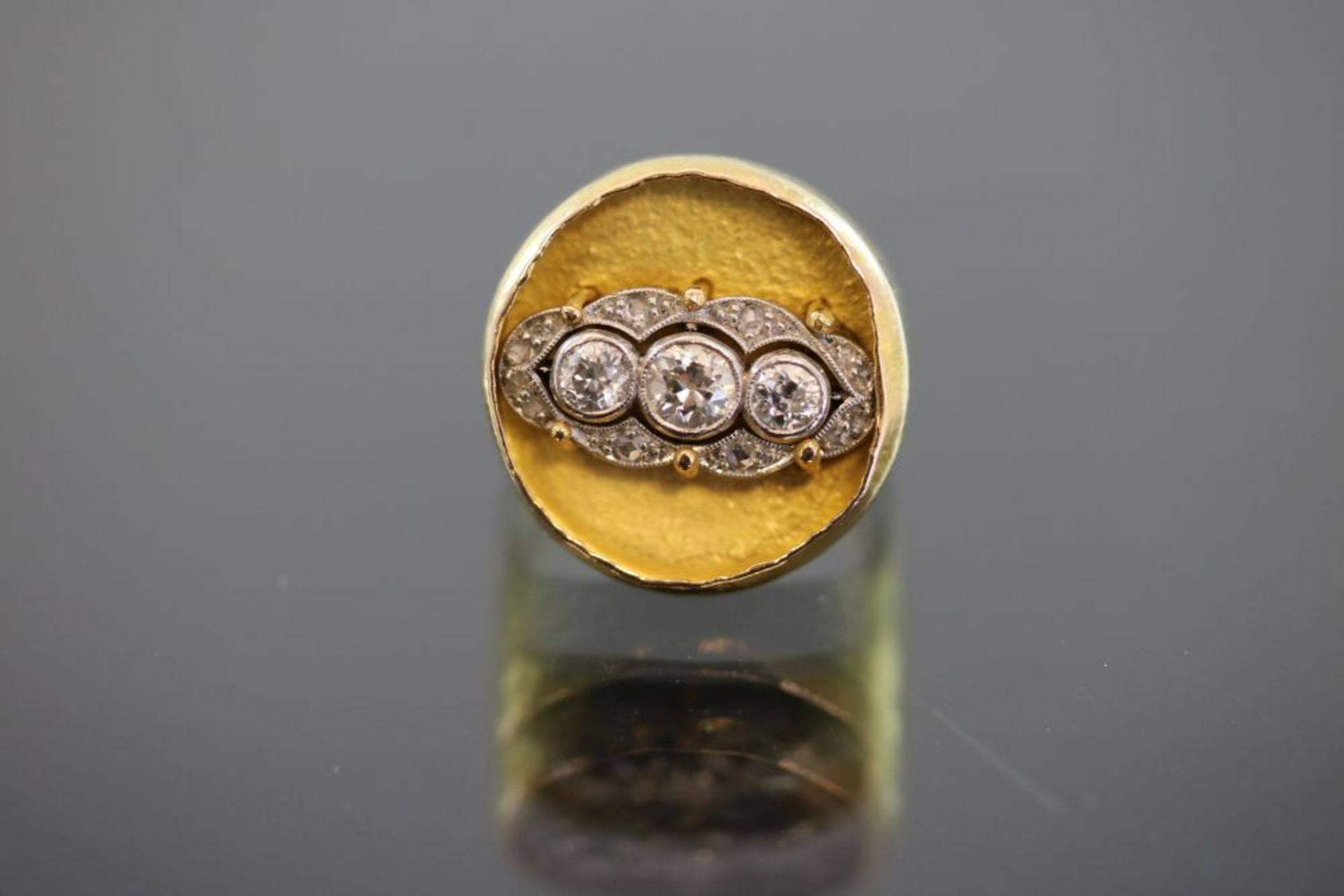 Zobel-Diamant-Ring, 750 Gold