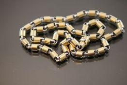 Design-Kette, 585 Gold/Stahl