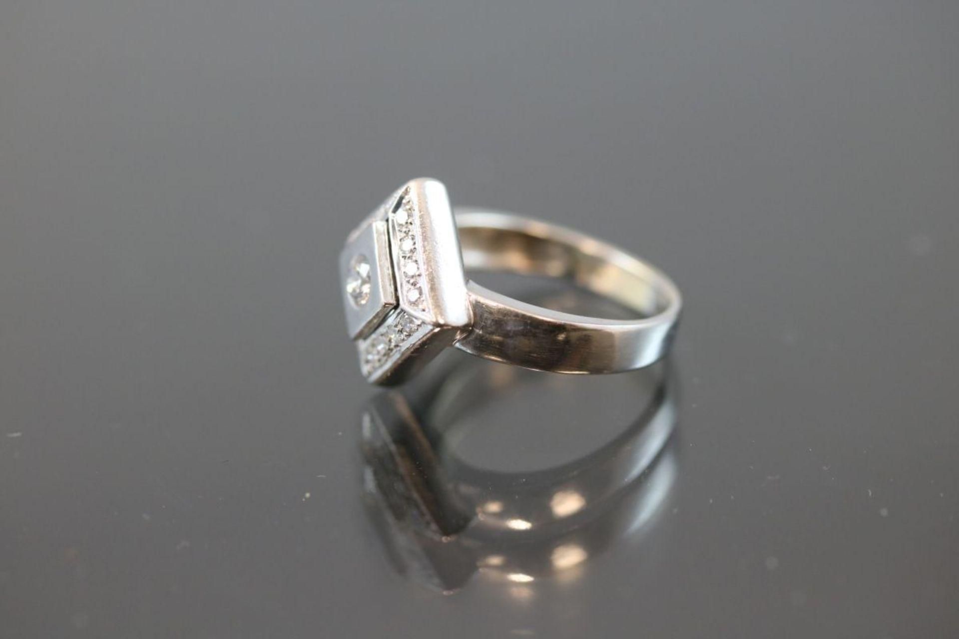 Brillant-Ring, 585 Weißgold - Bild 2 aus 3