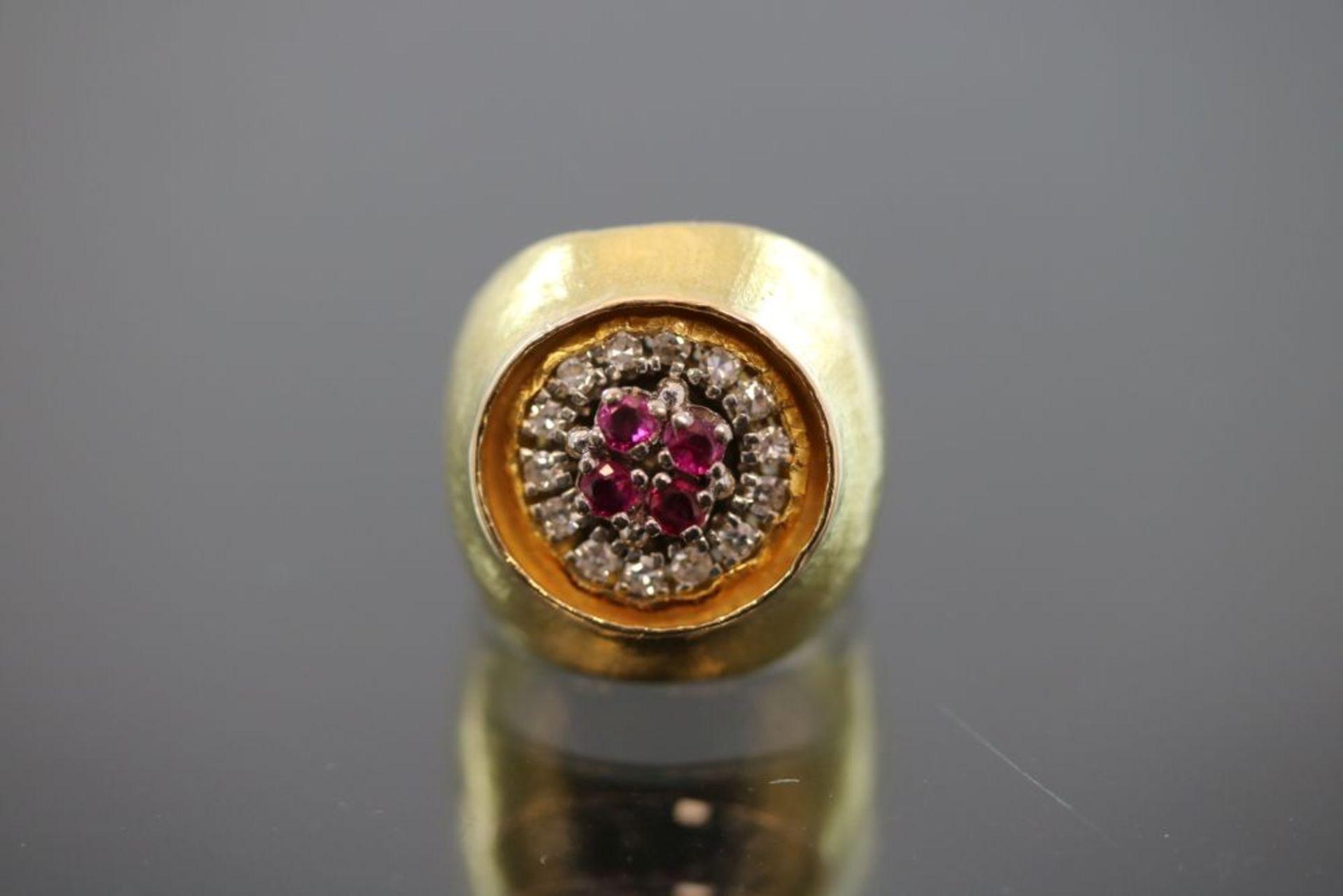 Zobel-Rubin-Diamant-Ring, 750 Gold