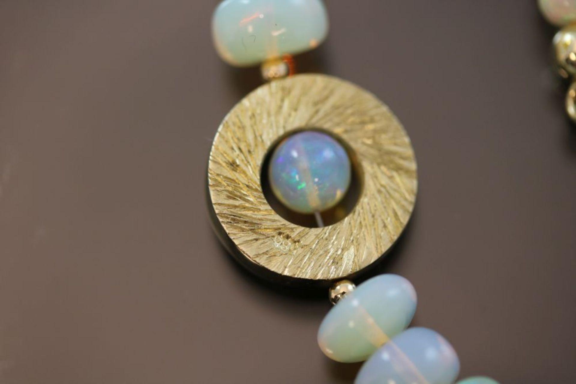 Opal-Collier, 585 Gold - Bild 3 aus 3