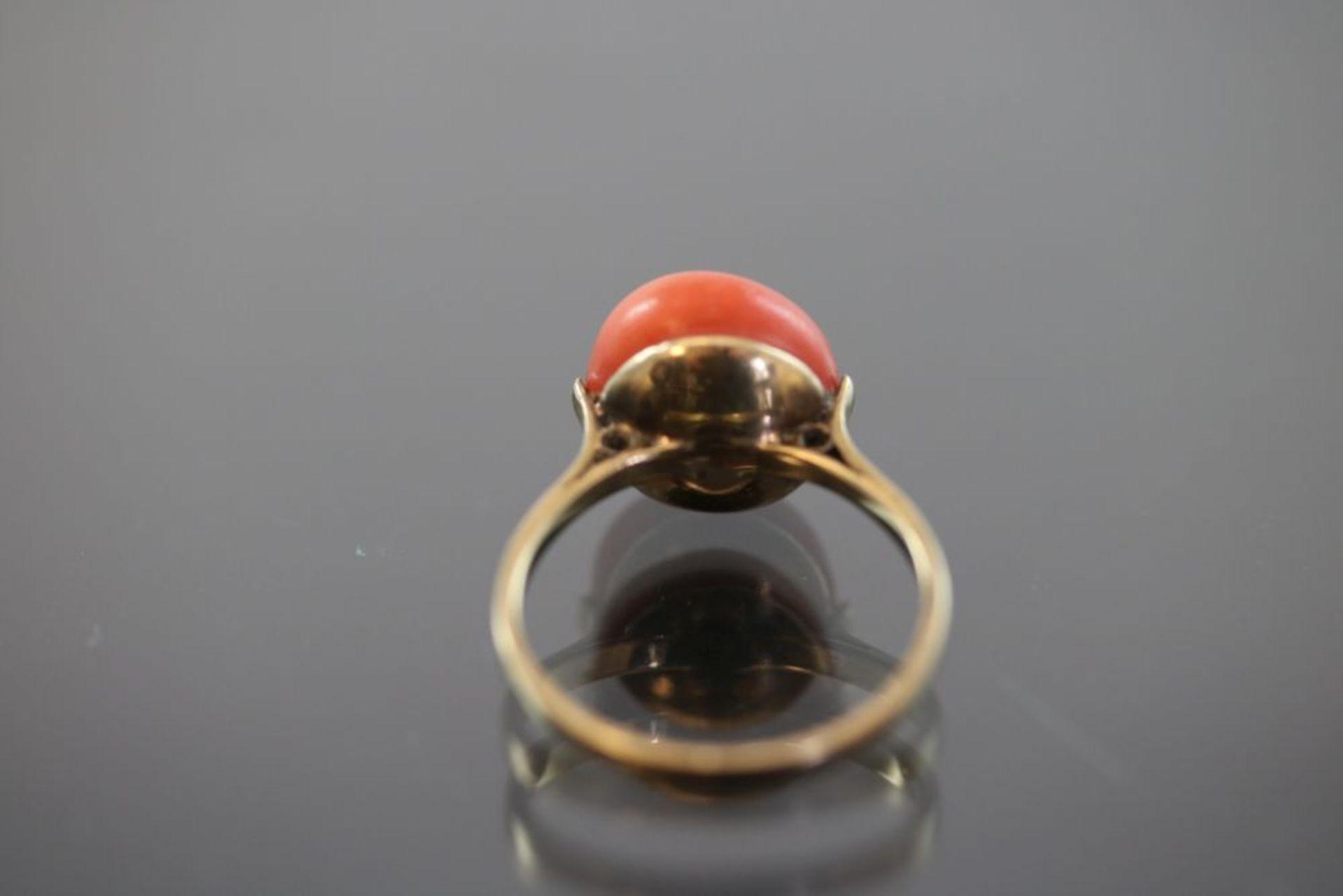 Koralle-Ring, 333 Gold - Bild 3 aus 3
