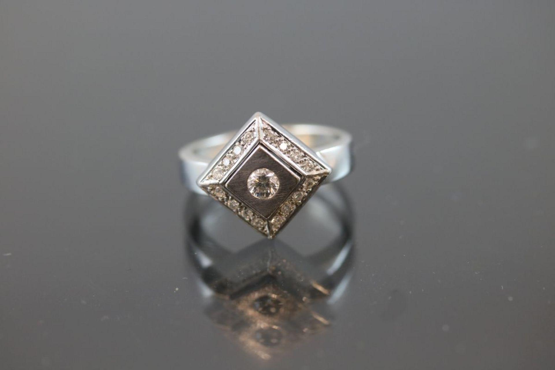 Brillant-Ring, 585 Weißgold