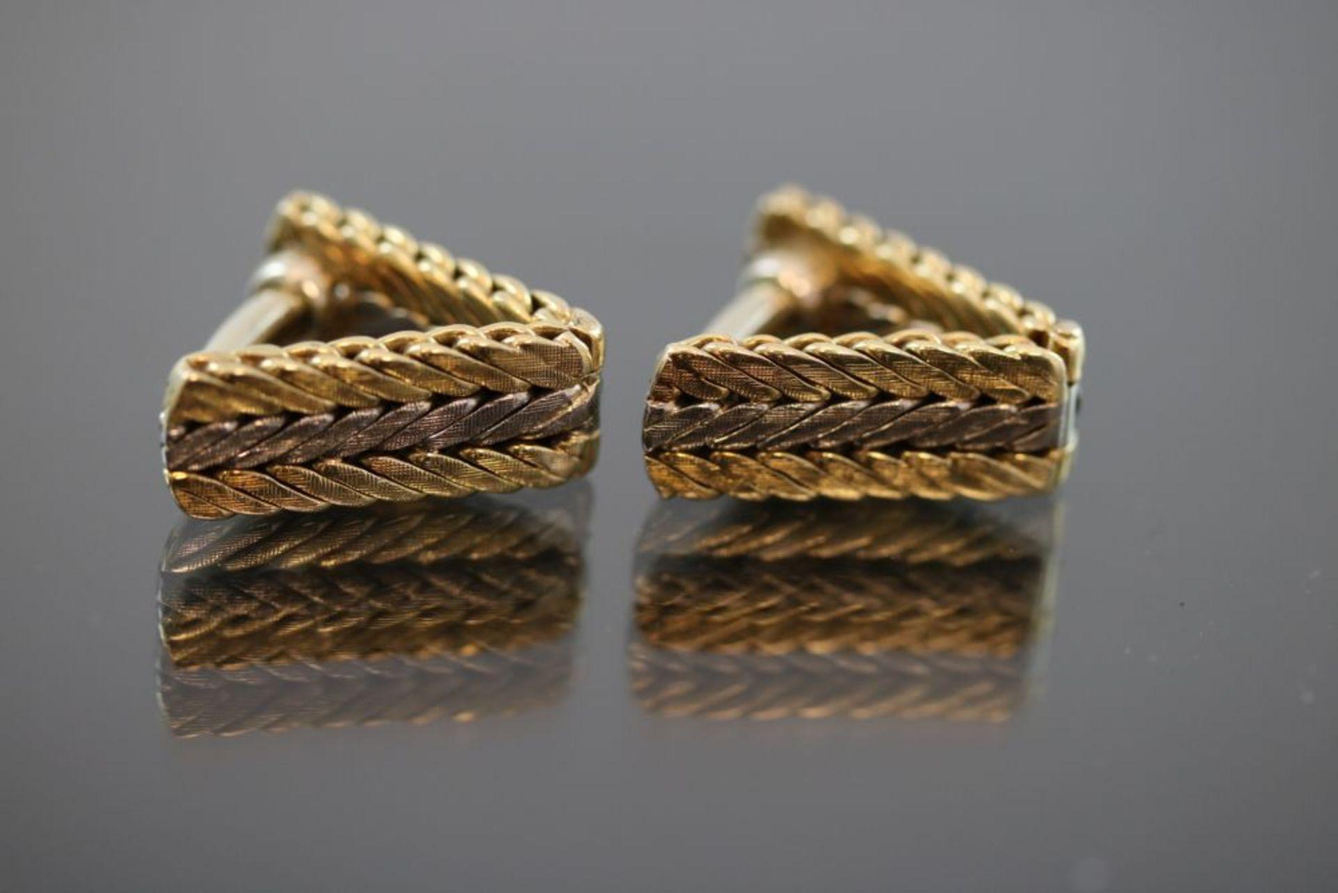 Manschettenknöpfe, 585 Gold