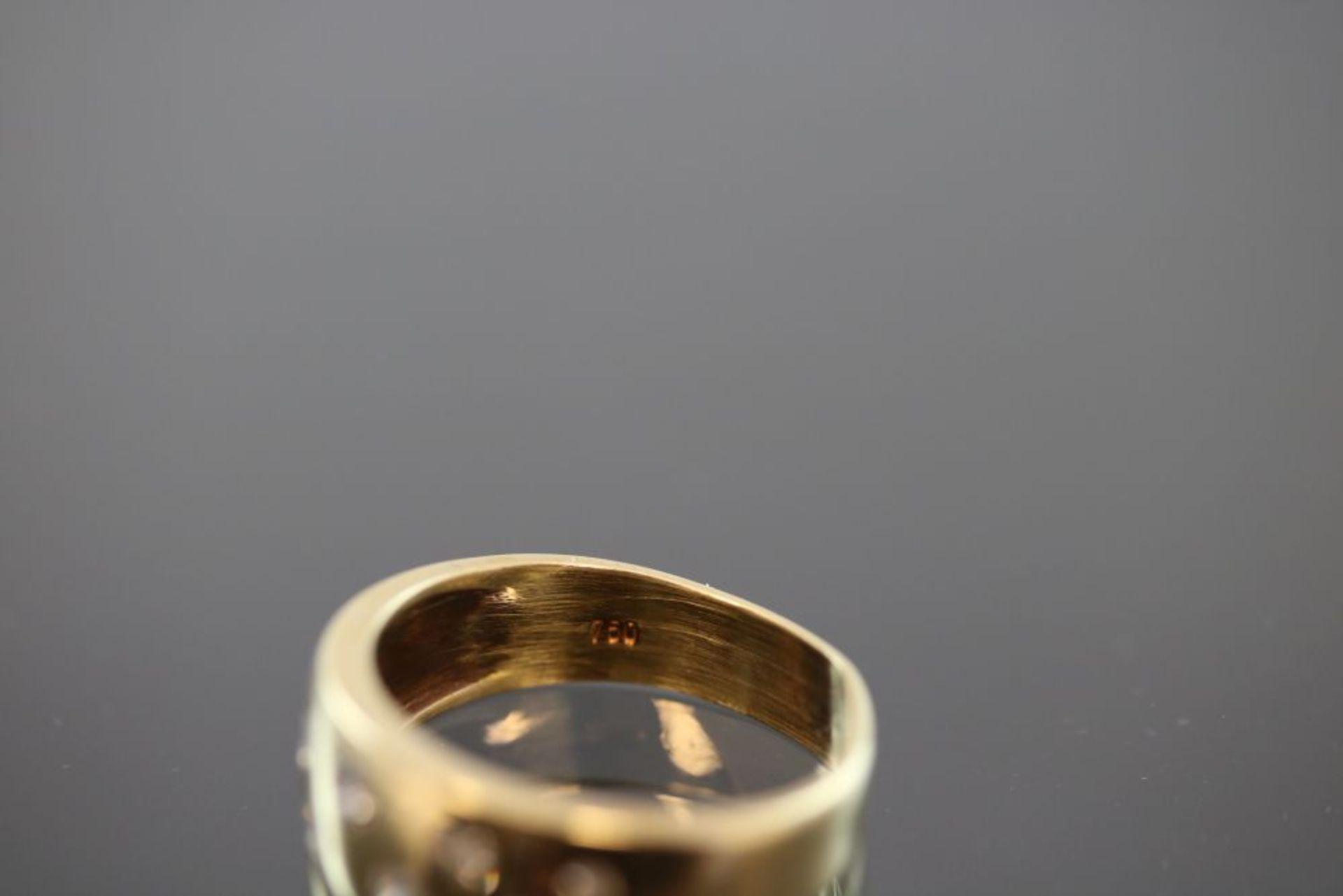 Brillant-Ring, 750 Gold - Bild 3 aus 3
