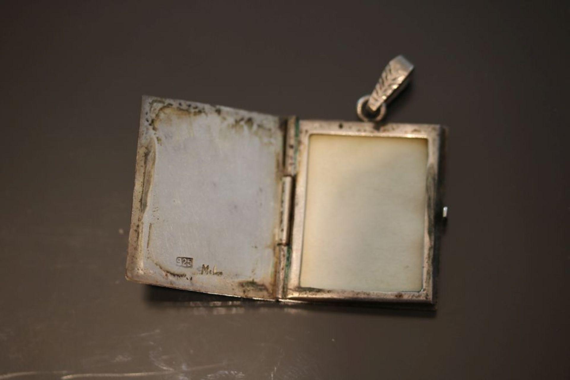 Medaillon, Silber - Bild 3 aus 3