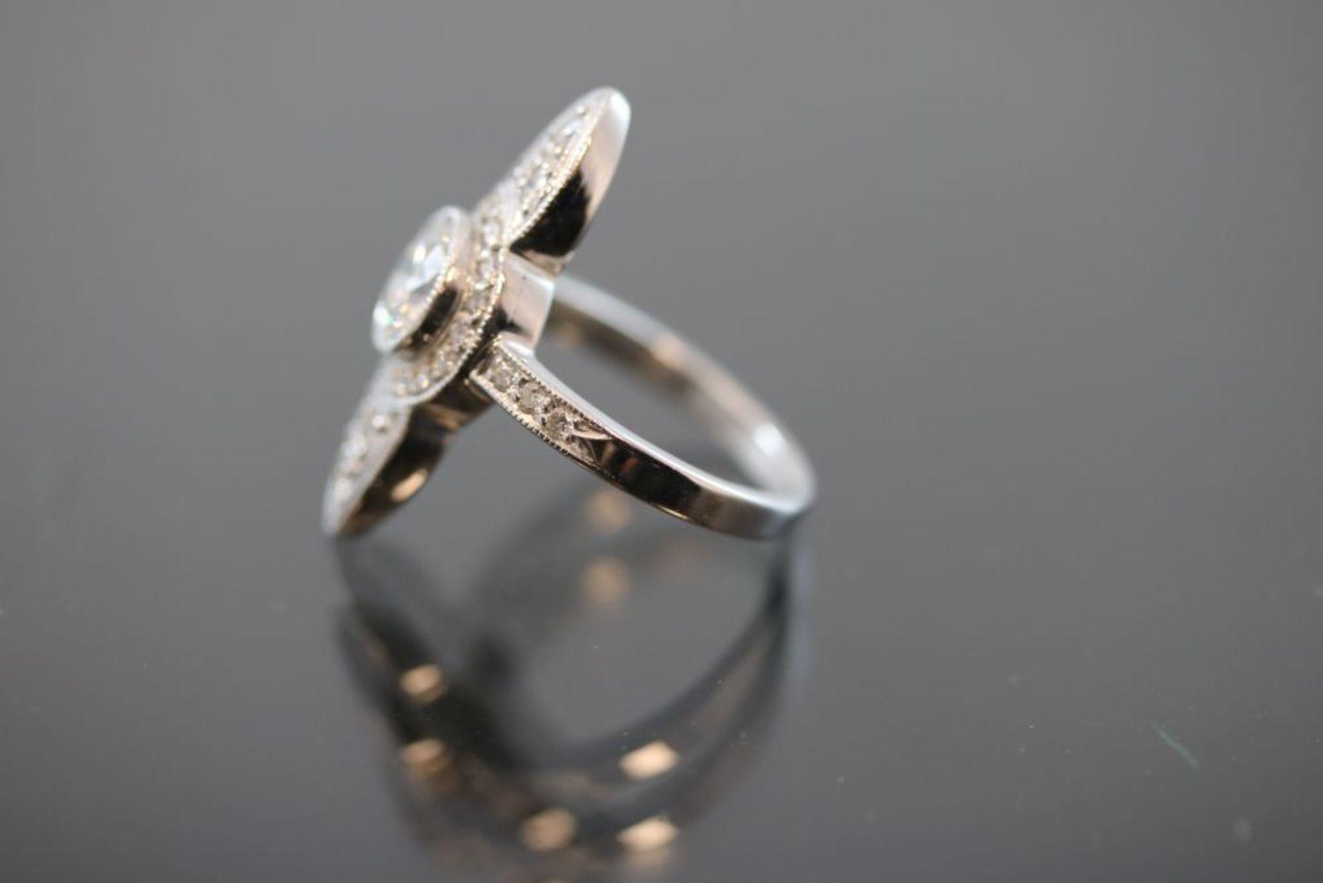 Brillant-Ring, 750 Weißgold - Bild 2 aus 3