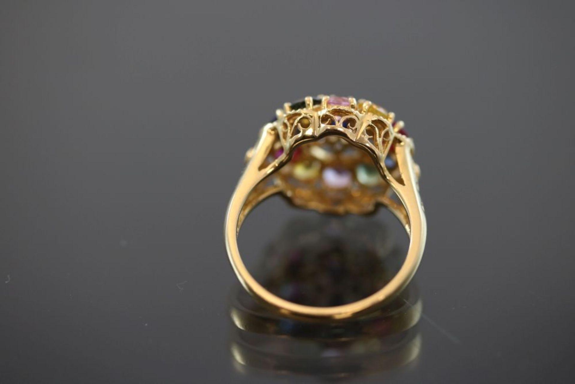 Edelstein-Ring, 750 Gold - Bild 3 aus 3