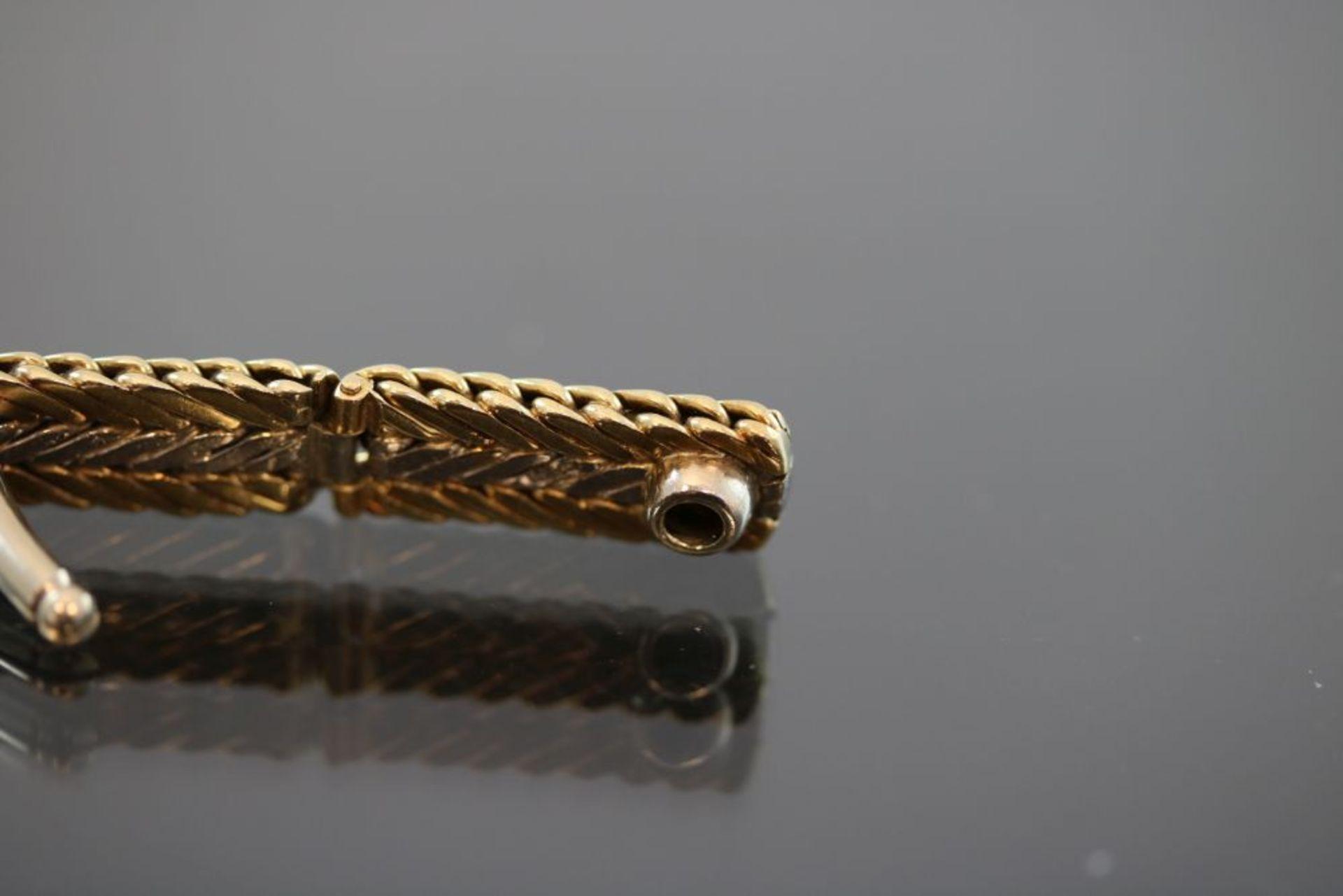 Manschettenknöpfe, 585 Gold - Bild 3 aus 3