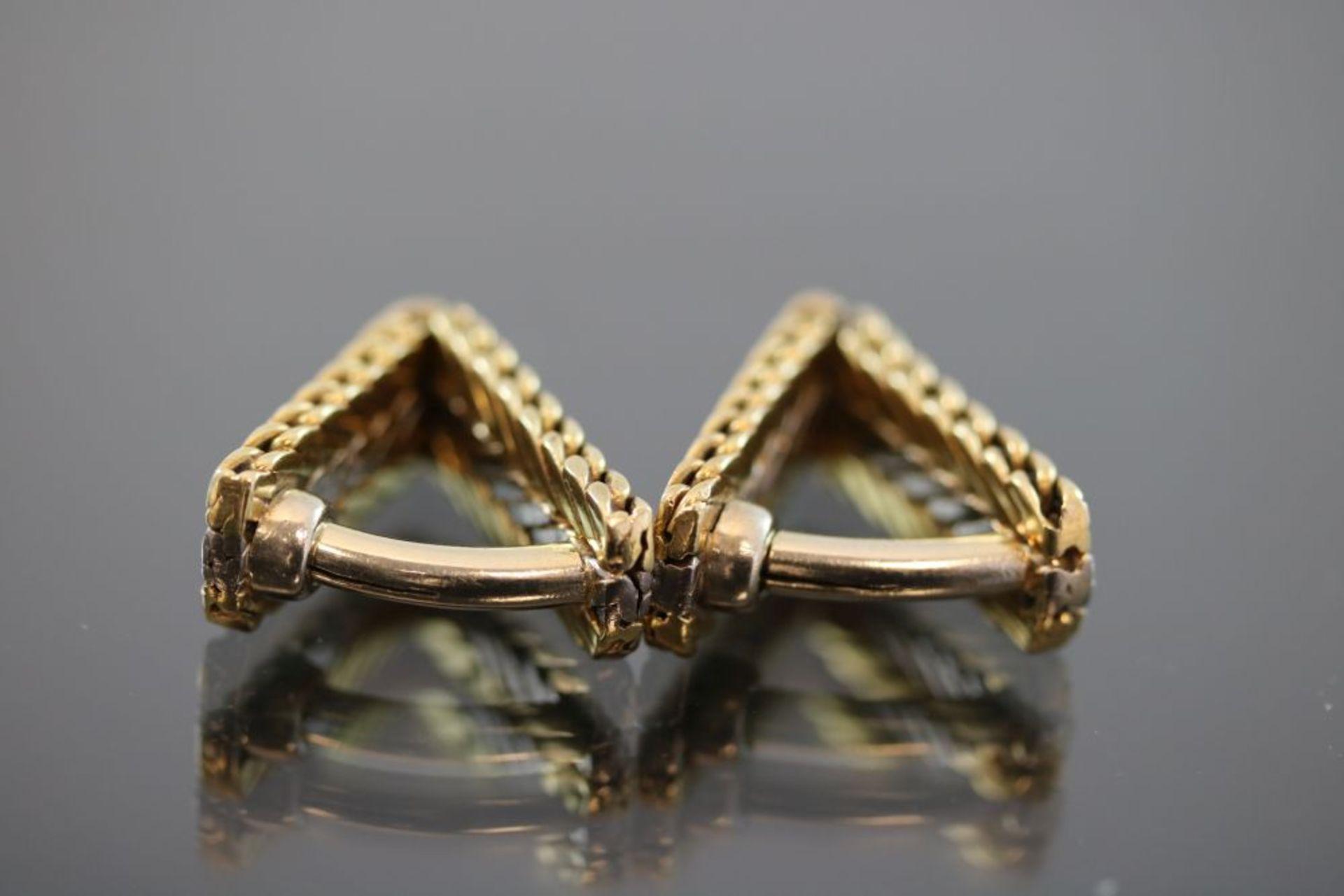 Manschettenknöpfe, 585 Gold - Bild 2 aus 3