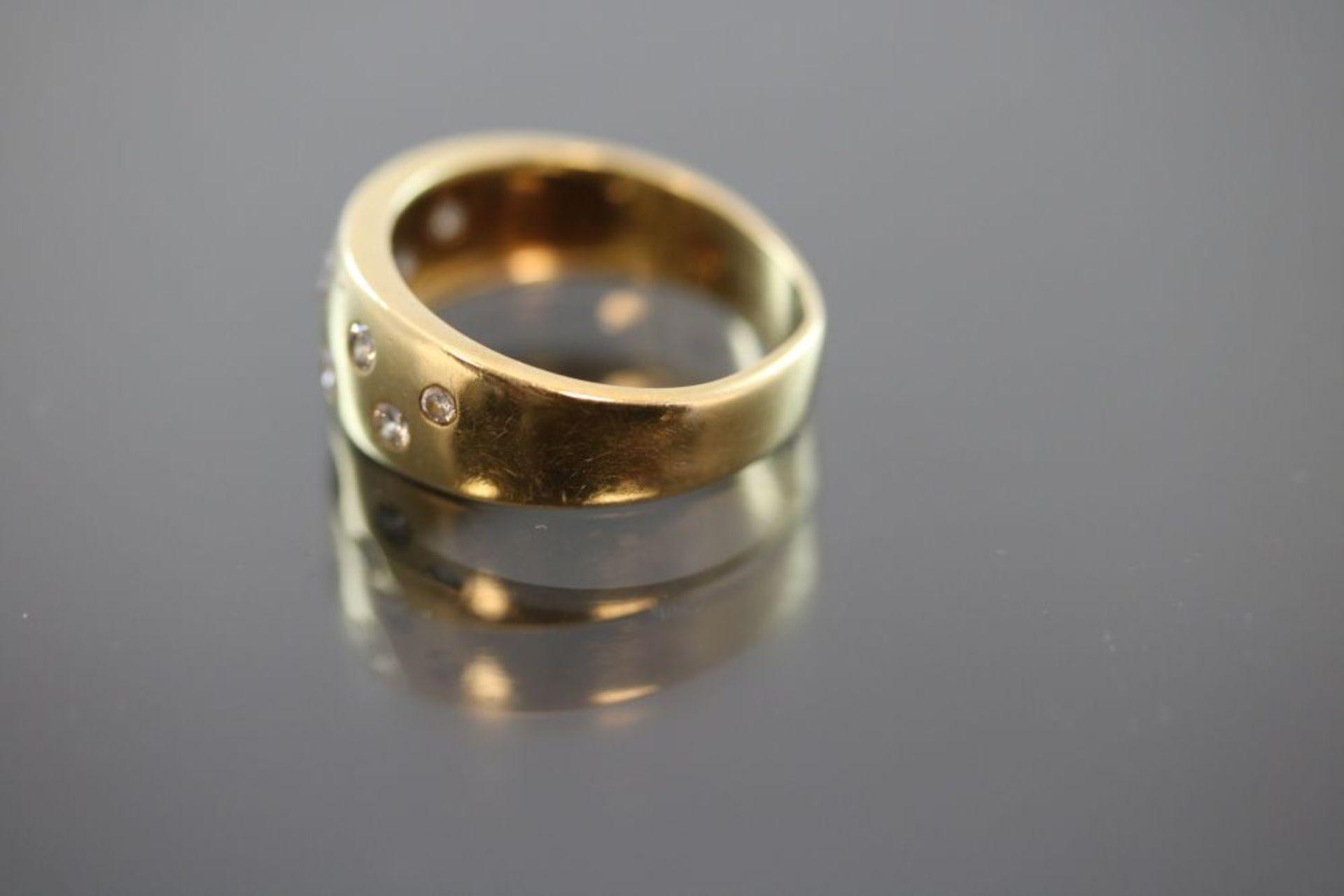Brillant-Ring, 750 Gold - Bild 2 aus 3