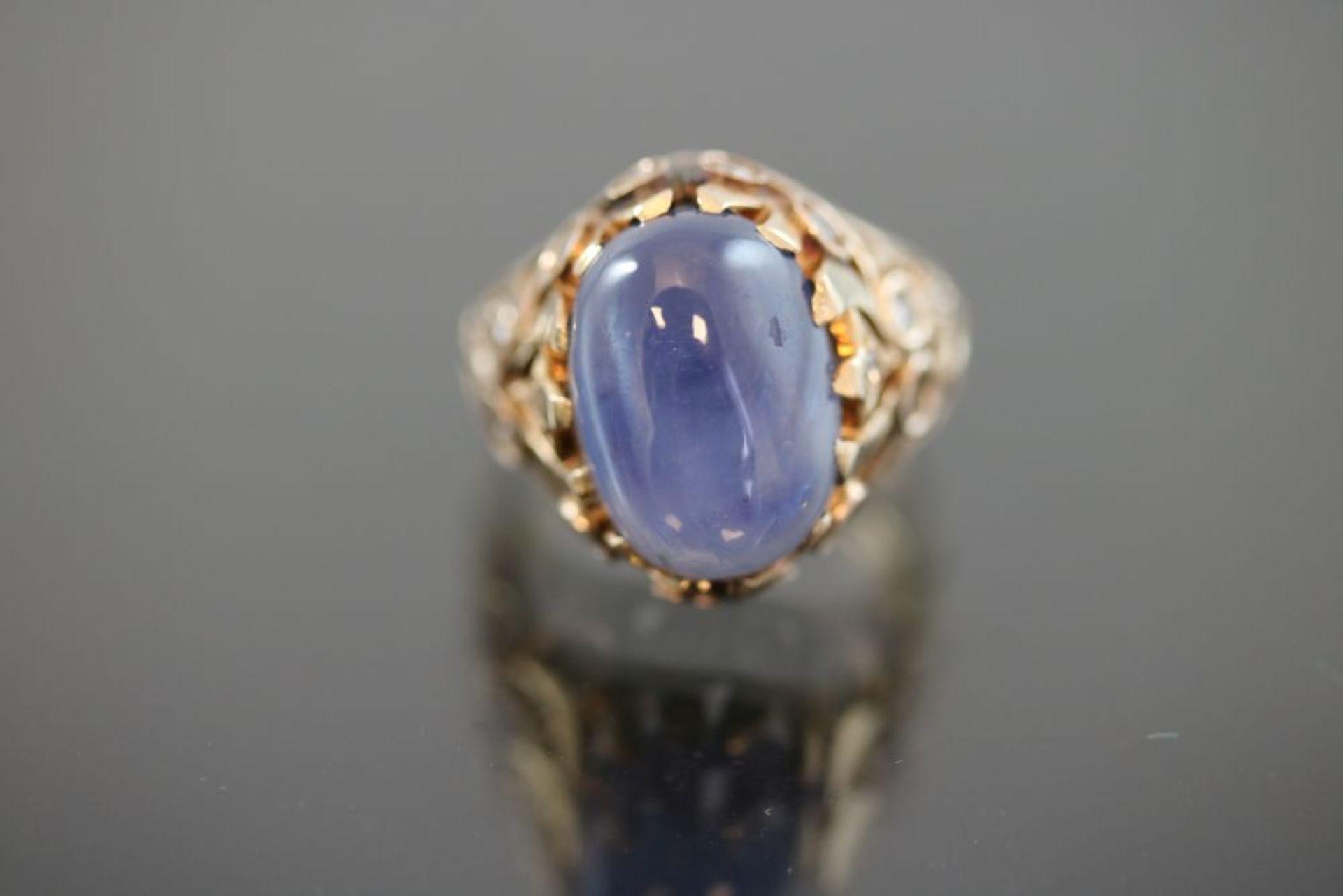 Saphir-Diamant-Ring, 585 Gold