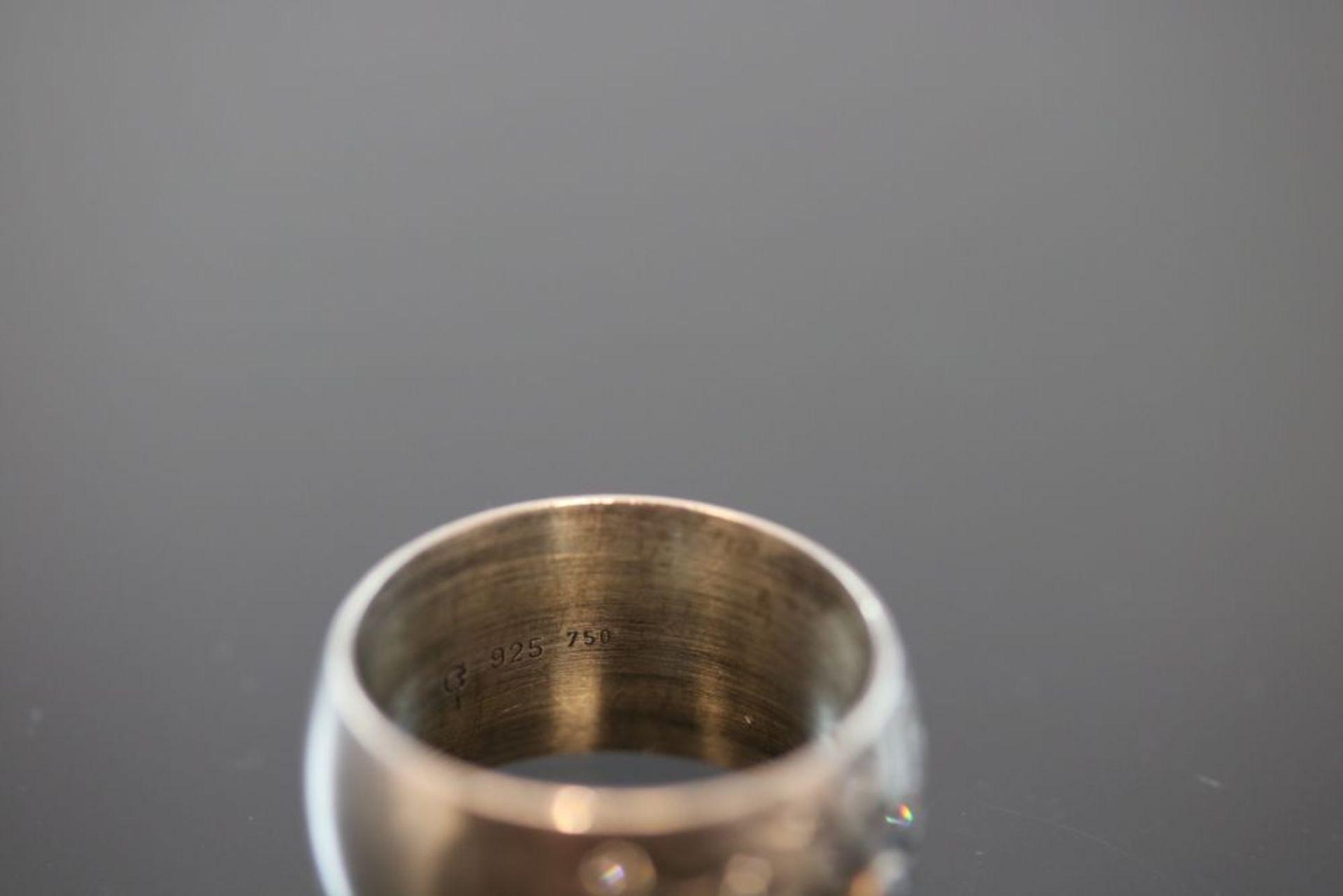 Brillant-Design-Ring, Silber/Gold - Bild 3 aus 3