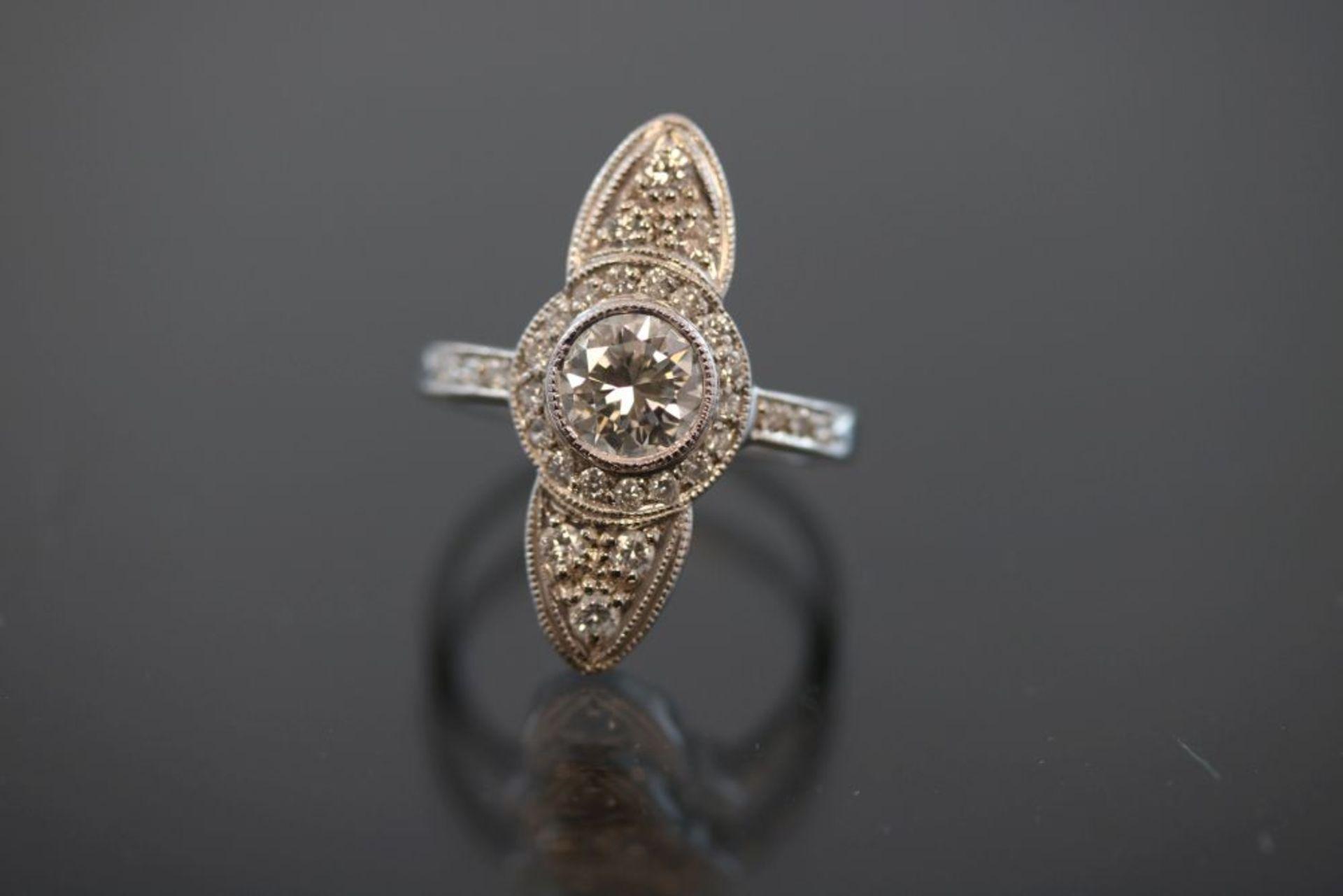 Brillant-Ring, 750 Weißgold