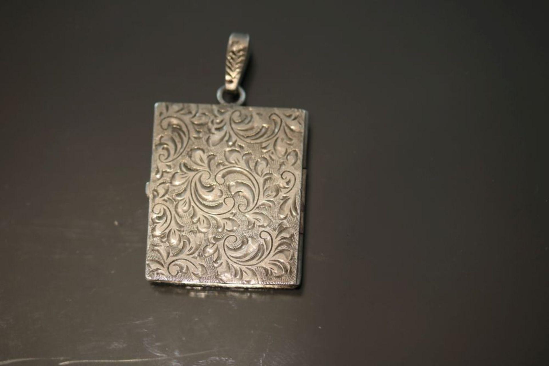 Medaillon, Silber - Bild 2 aus 3