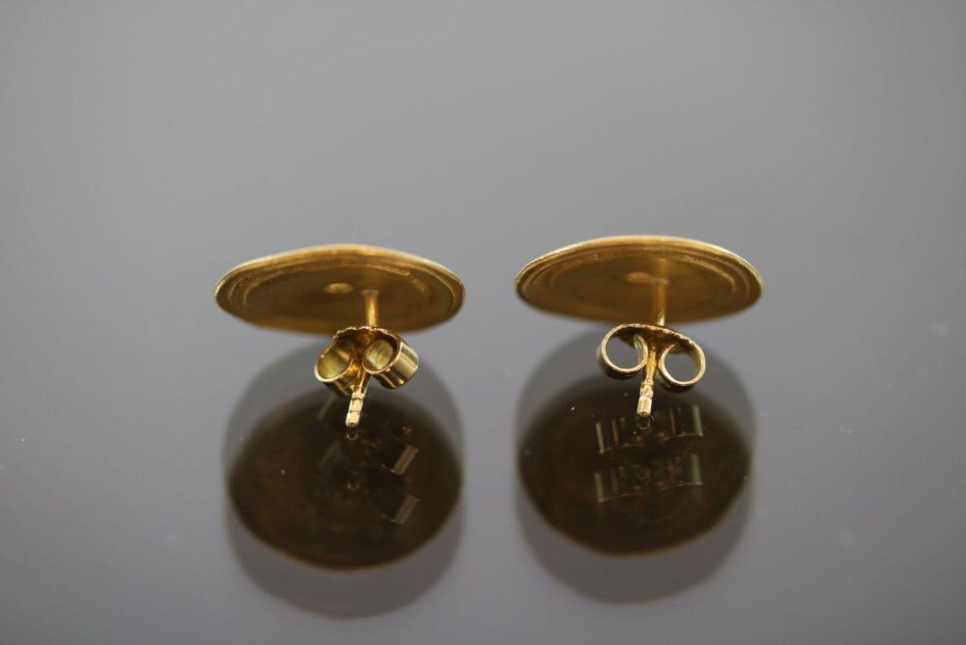 Brillant-Ohrringe, 900 Gold - Bild 2 aus 3