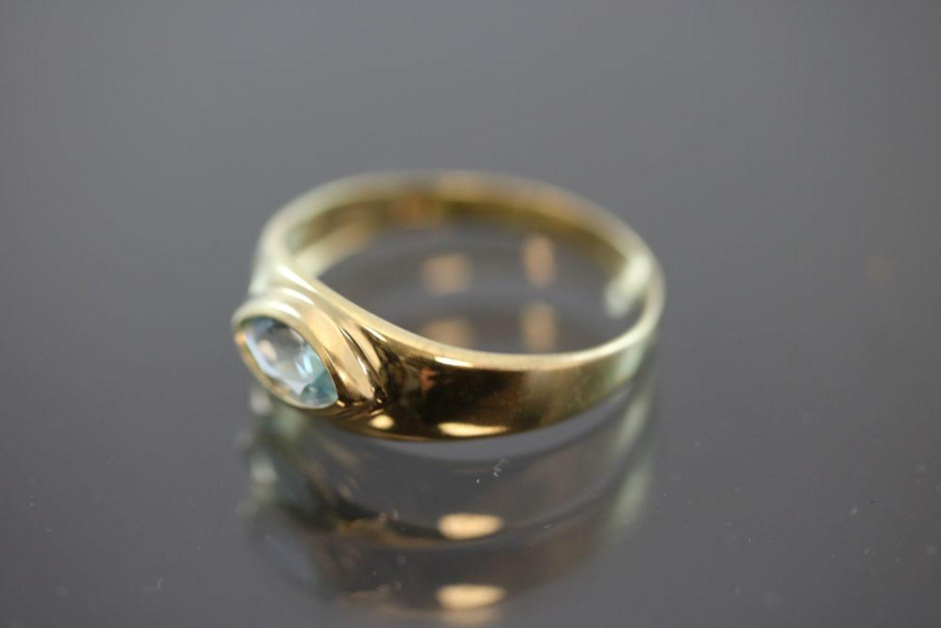 Aquamarin-Ring, 333 Gelbgold - Bild 2 aus 3