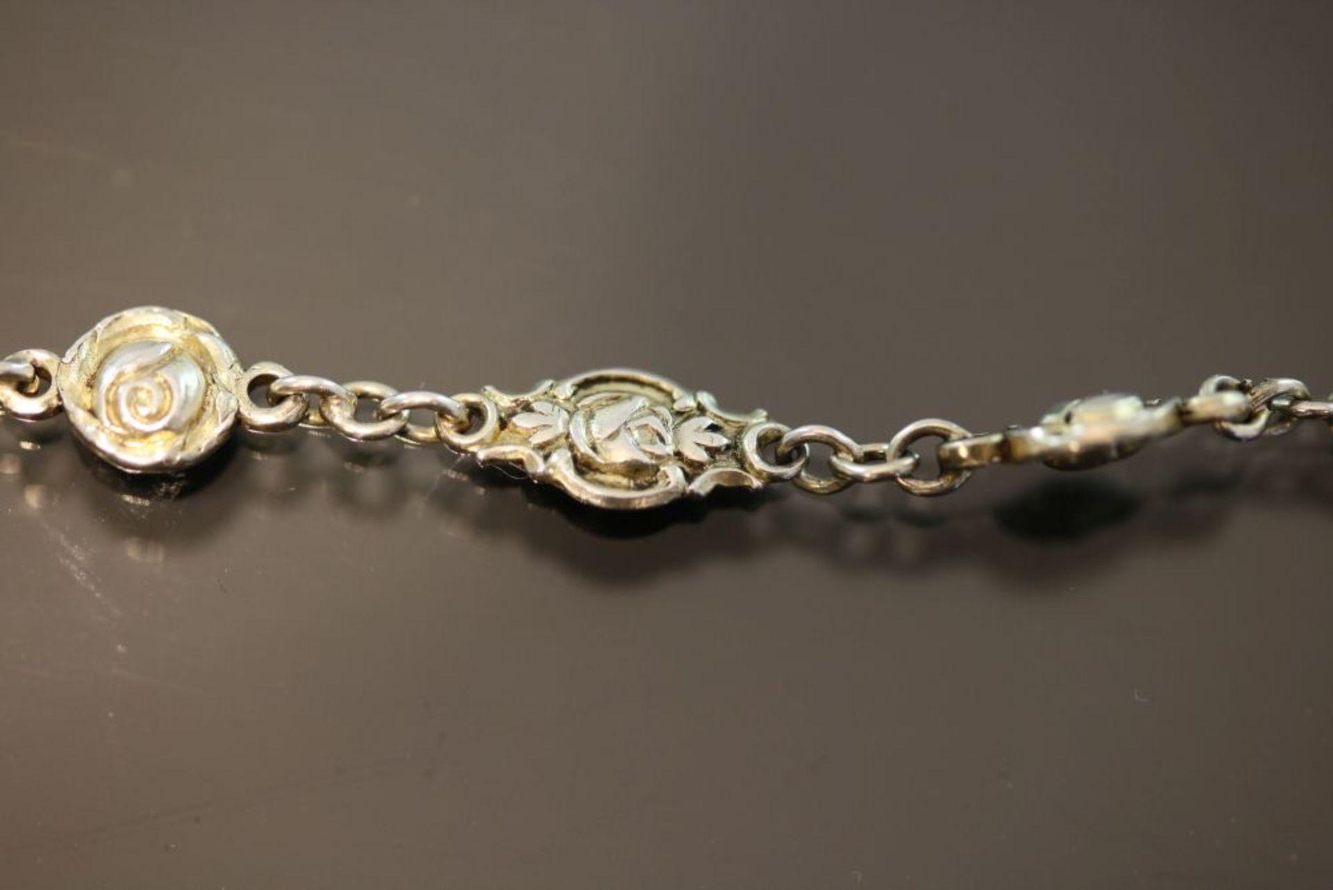 Silberkette Rosenmotiv, Silber vergoldet - Bild 2 aus 2