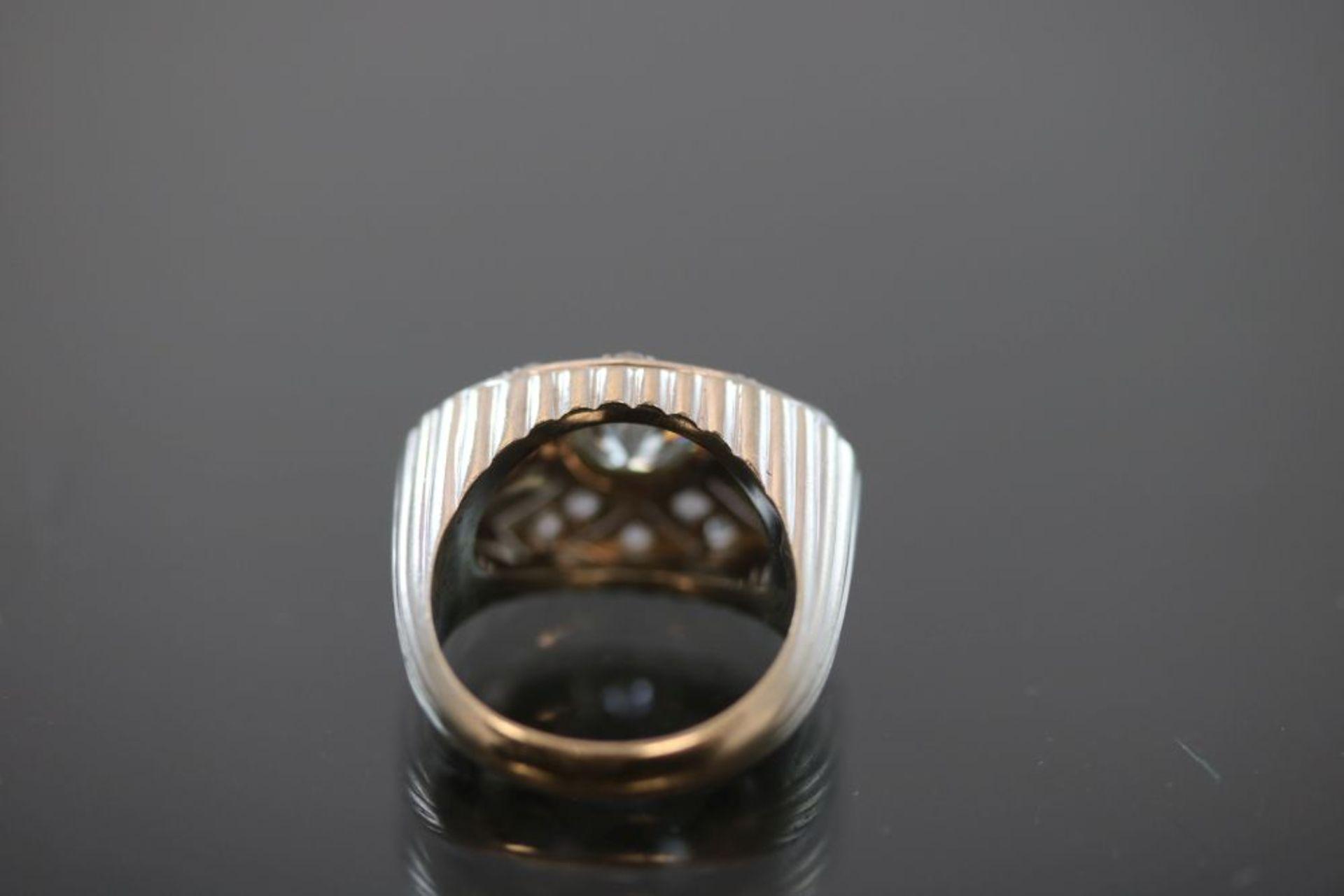 Art-Deco-Ring, 750 Weißgold - Bild 3 aus 3