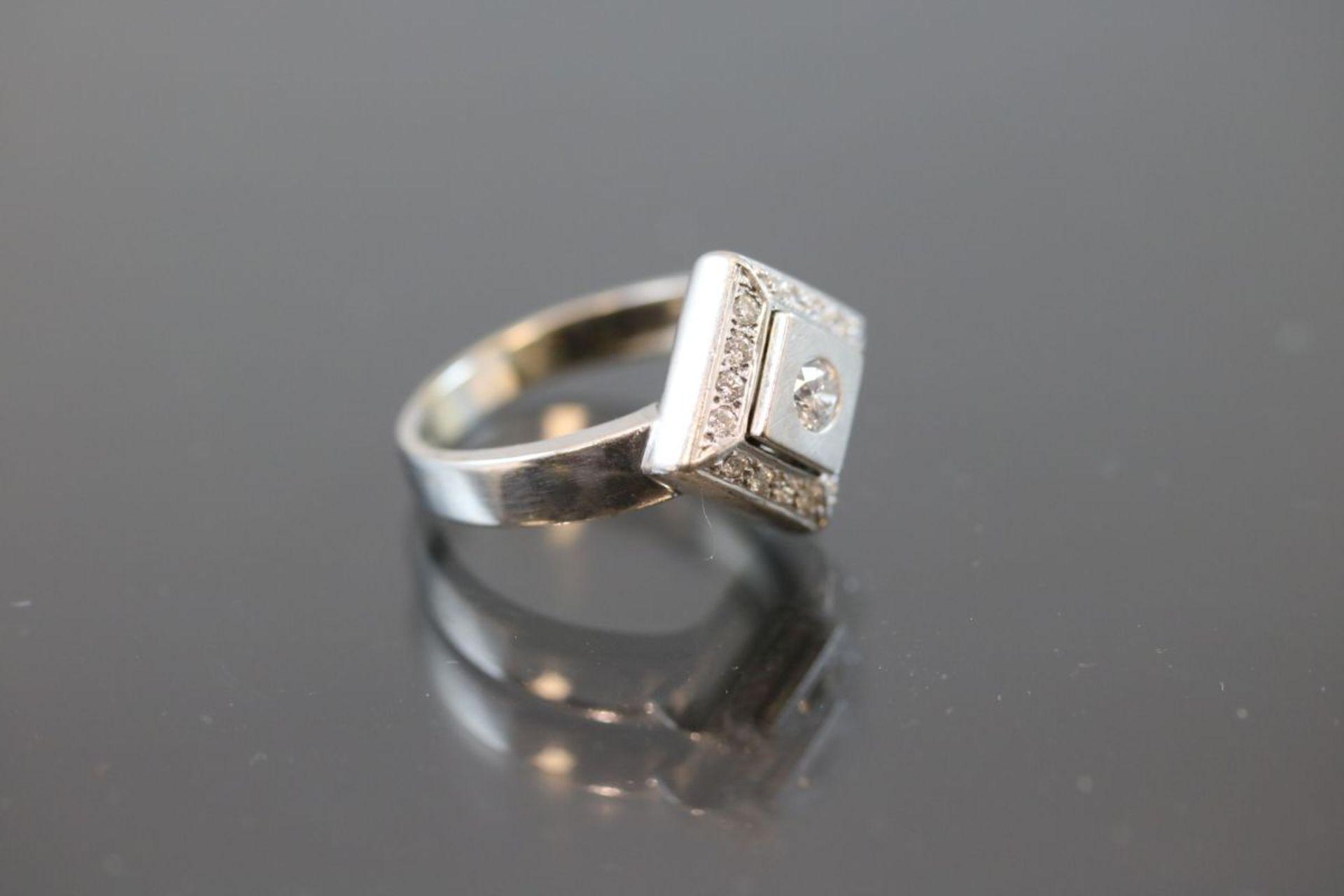 Brillant-Ring, 585 Weißgold - Bild 3 aus 3