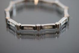 Diamant-Armband, 585 Weißgold