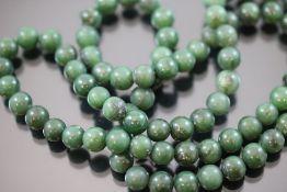 Jade-Halskette, endlos
