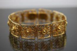 Armband, 835 Silber vergoldet