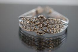 Brillant-Armband, 750 Weißgold