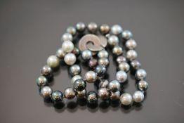 Perlenkette, 925 Silberschließe