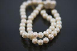 Perlenarmband, 925 Silberverschluß