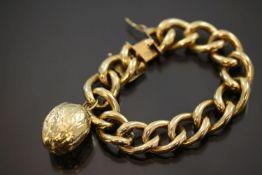 Armband mit Anhänger, 750 Gold
