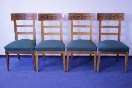Satz von 4 Stühlen19. Jhdt.GepolstertRückenlehne mit Tuschierung