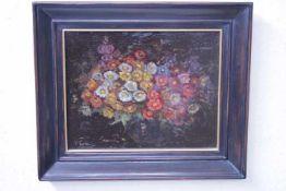 Wildeboer, Roel (1902-1989) ATTR. Blumenbild «unleserl.signÖl/Platte31x25cm gerahmt