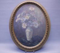 Ovales Blumenbildwohl um 1900Öl/Platte47x37cmOriginal Rahmen