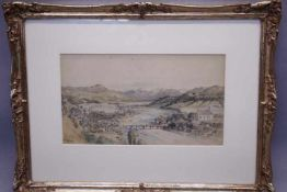 Kappis, Albert Wildberg 1836 - 1914 Stuttgart Blick in eine weite Flusslandschaft «