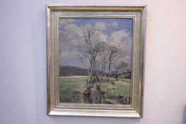 Umgelter Hermann 1891-1962 Feuerbacher Tal im Frühjahr «Öl auf LeinwandLi.U.Sig.50 x 60cmOriginal
