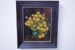 Wildeboer, Roel (1902-1989) ATTR. Blumenbild «unleserl.sign.Öl/Platte31x25cm gerahmt