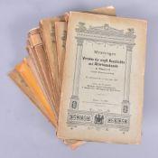 """""""Mitteilungen des Vereins f. Vogtländ. Geschichte"""", 14 Ausgaben von 1912-1941, nicht komplett,"""
