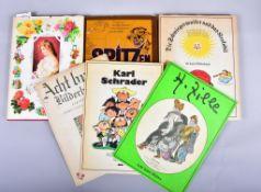 """""""Acht bunte Bilderbogen""""u.a.v. C. Schrader, H. Zille, """"Die Schwiegermutter u.d. Krokodil"""", """"Cartoons"""