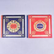 """Zigarettenbilder-Alben, Waldorf Astoria München, 2 Bände, """"Uniformen der alten Armee"""" und """"Uniformen"""