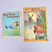 """2 Stück englische Kinderbücher, """" How Coral Swam Ashore"""" publ. von T. Fisher Unwin London und """"Happy"""