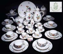 Kaffee-/Tee- und Moccaservice. NYMPHENBURG, Marke 1910 - 1975.