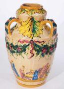 Keramik-Ziervase, um 1900.