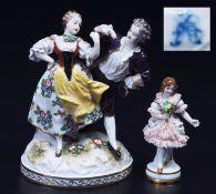 "Figurengruppe ""Tanzpaar"". Balletttänzerin. Aelteste Volkstedter/Thüringen<b"