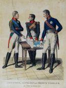 Darstellung der drei Kaiser: Alexander, Napoleon und Friedrich Wilhelm III., 1807.